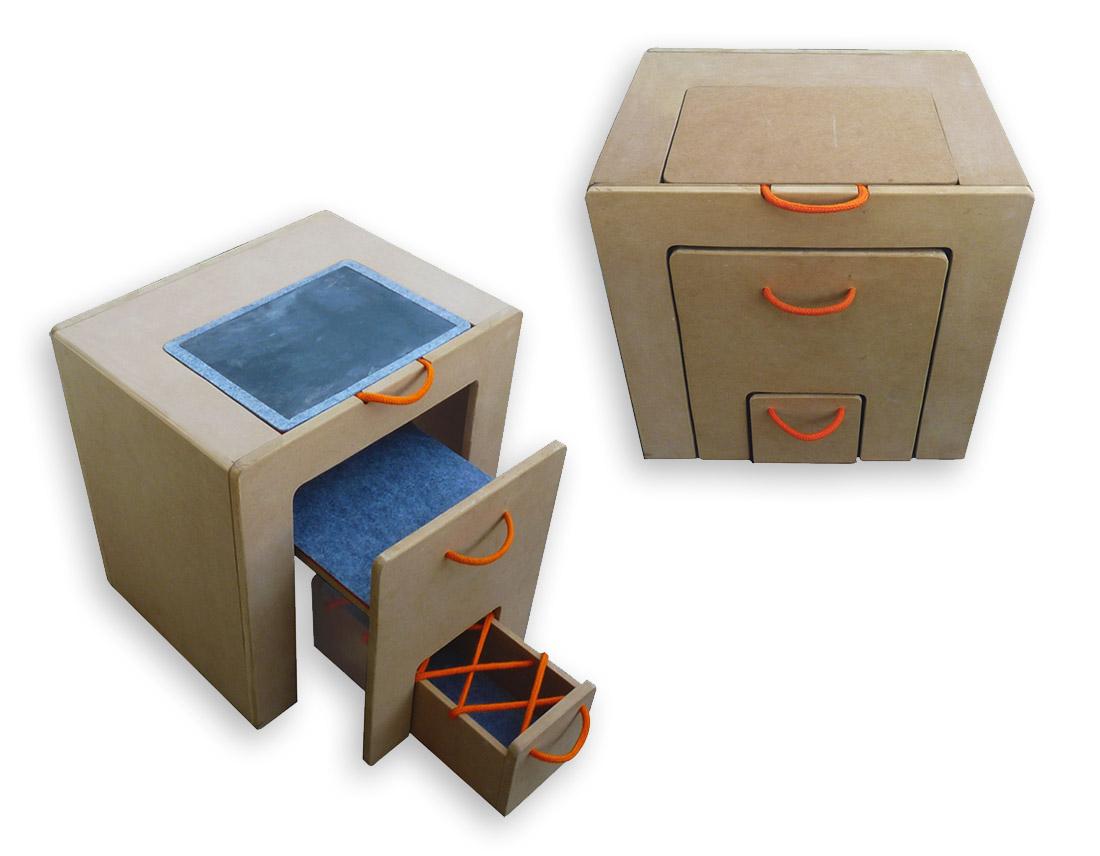 Mobilier Nao, format cube pour enfants