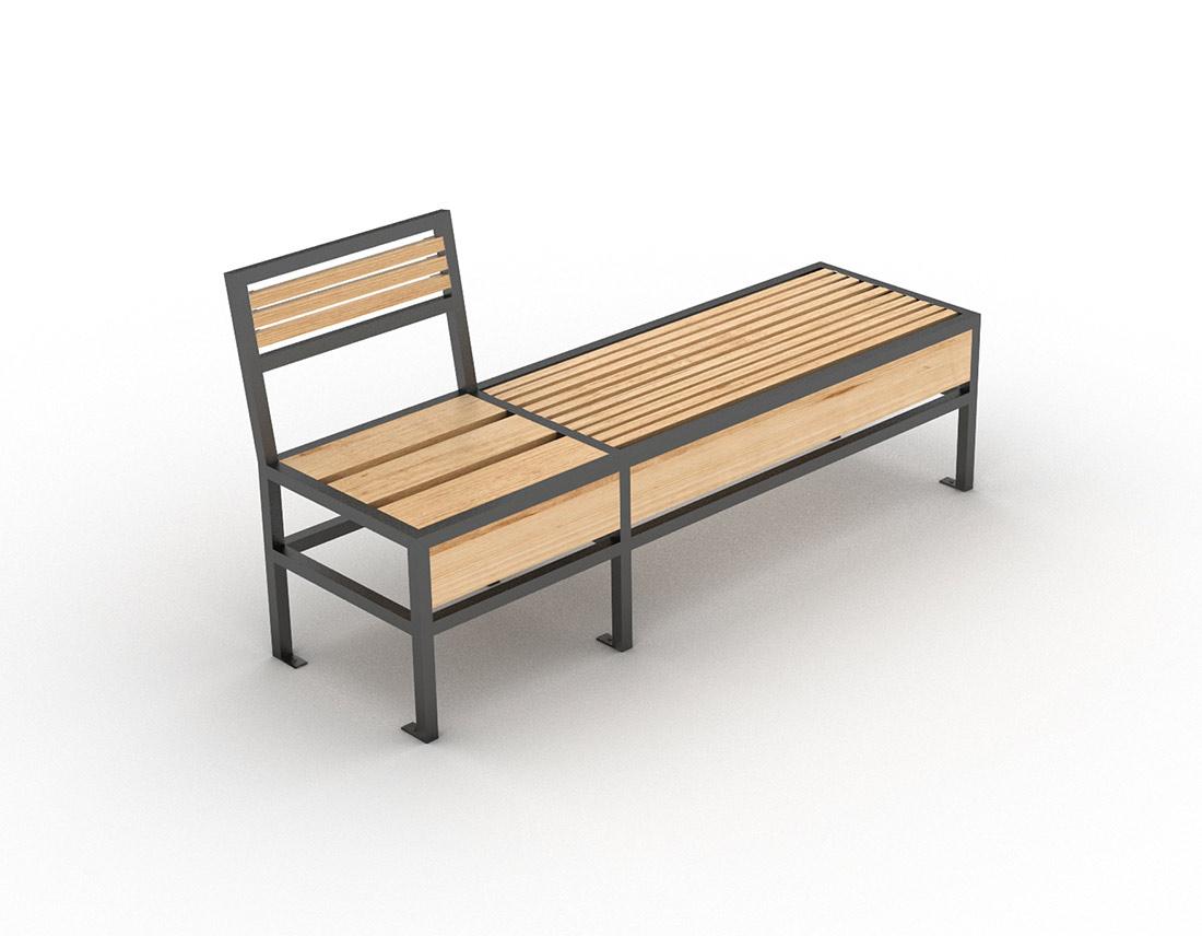 mobilier design banc et chaise de la gamme geometrik