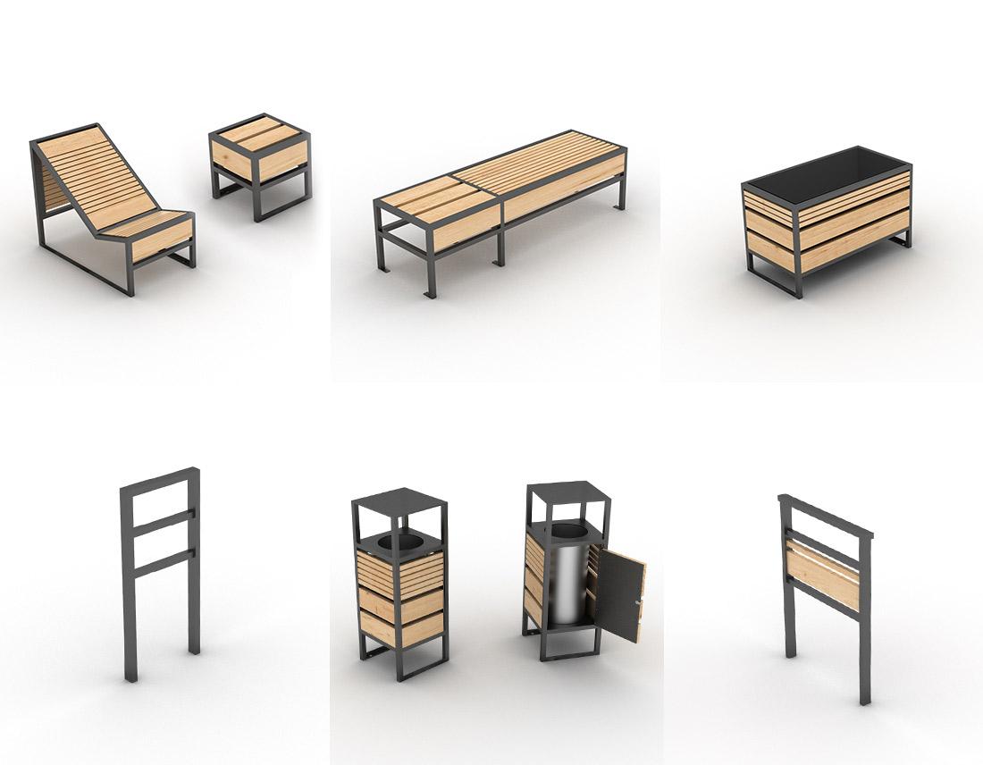 mobilier design extérieur gamme geometrik