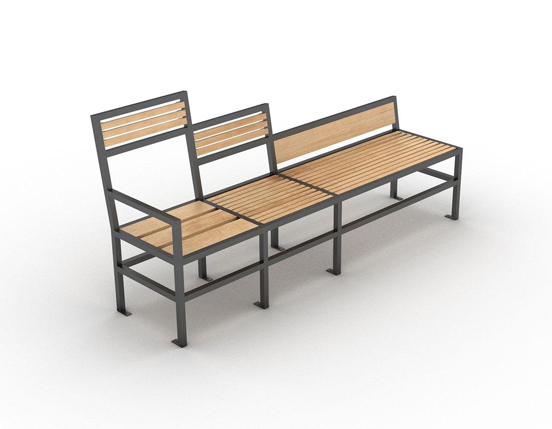 mobilier design banc de la gamme geometrik