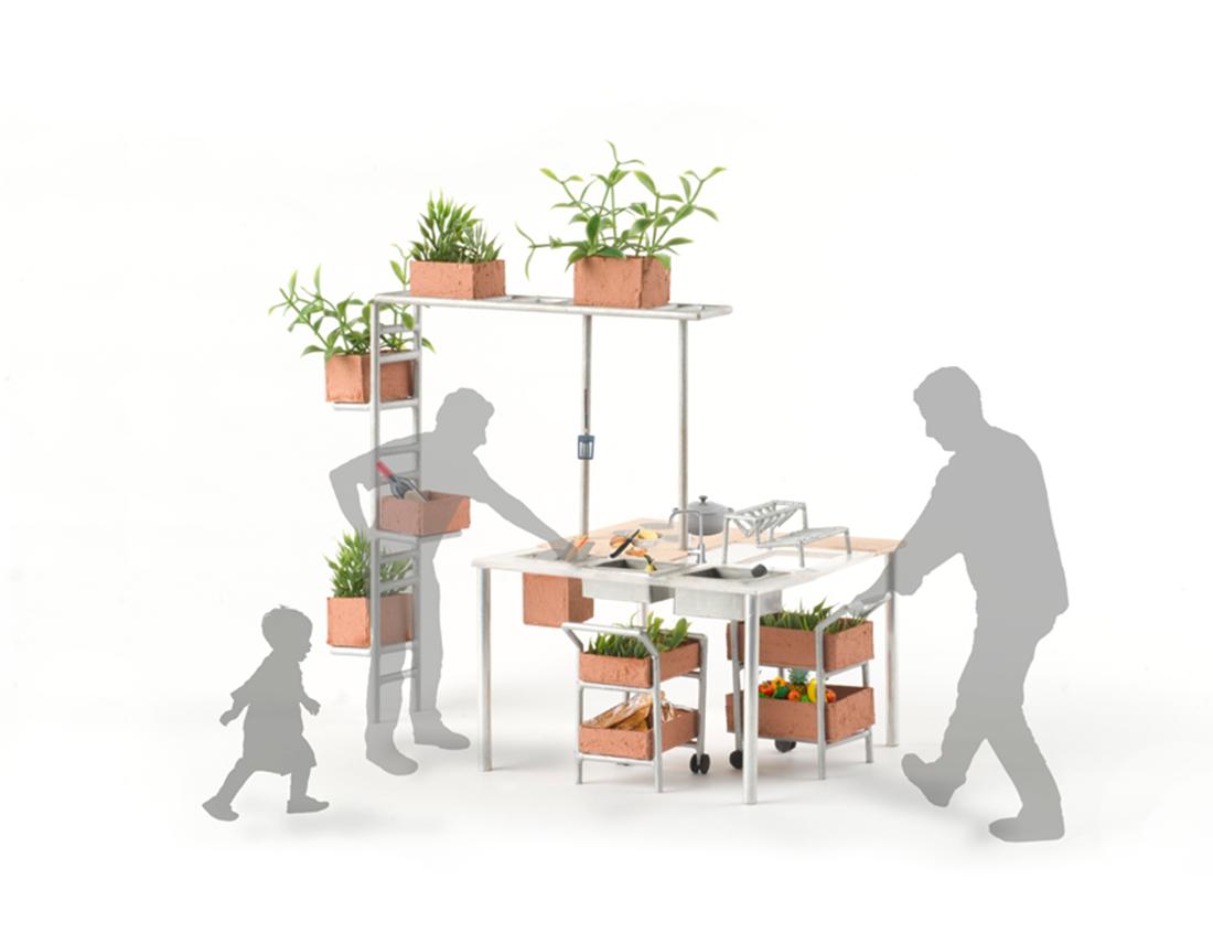 Epluchage dans la Biocosme Cuisine