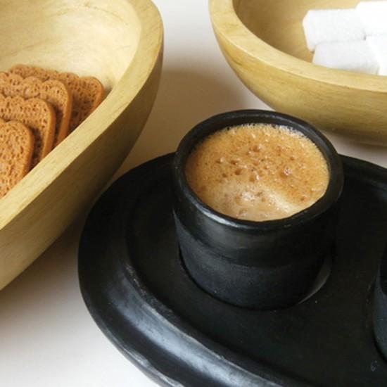 Objet de la forme d'une graine de café