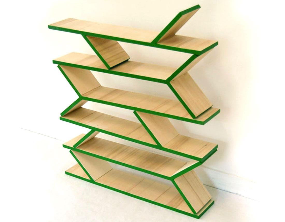 Lierre est un mobilier en bois de trois modules