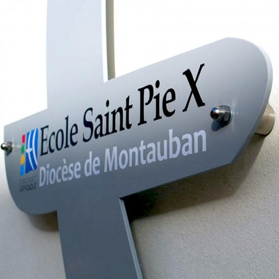 Signalétique pour l'école Saint Pie X
