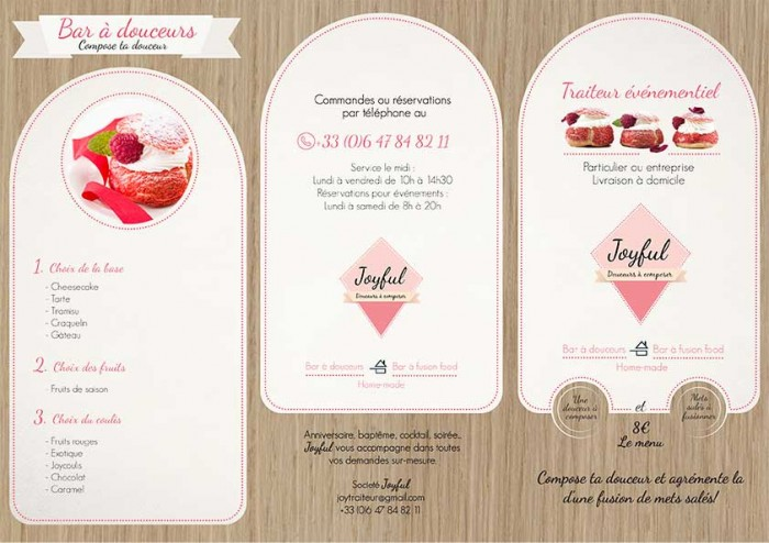 Flyer menu