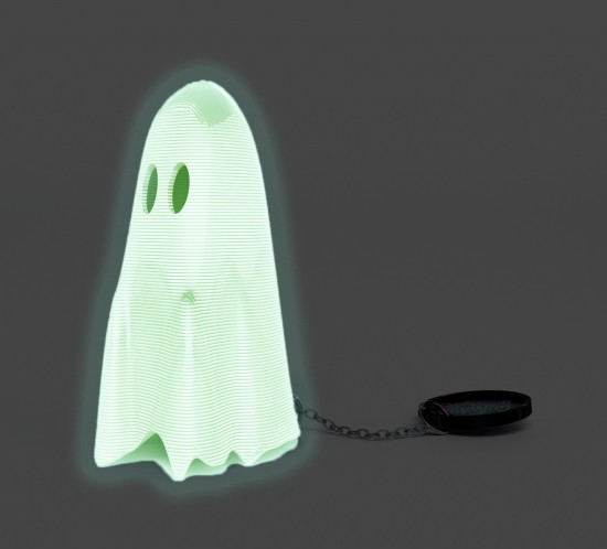"""EL FANTASMA"" 3D printed phosphorescent ghost"