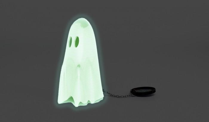 """EL FANTASMA"" 3D printed phosphorescent ghost"